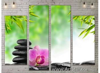 Модульные Картины, Цветы, Art. FLOW777524