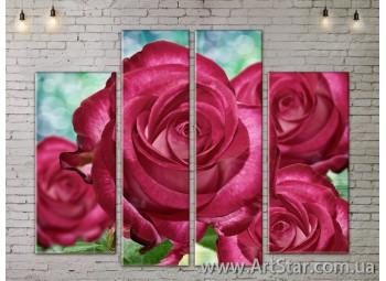 Модульные Картины, Цветы, Art. FLOW777532