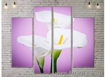 Модульные Картины, Цветы, Art. FLOW777538