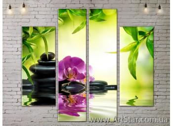 Модульные Картины, Цветы, Art. FLOW777544