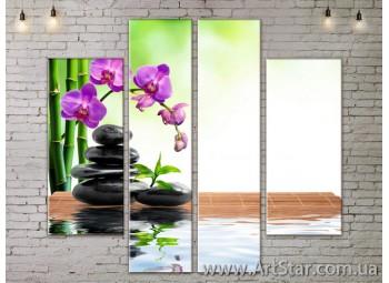 Модульные Картины, Цветы, Art. FLOW777548