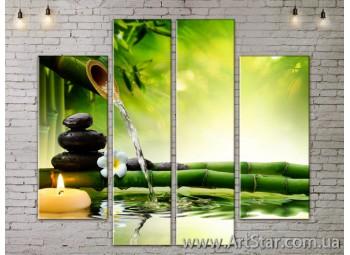 Модульные Картины, Цветы, Art. FLOW777552