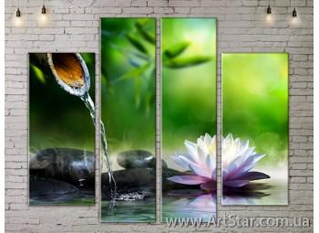Модульные Картины, Цветы, Art. FLOW777554