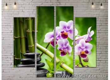 Модульные Картины, Цветы, Art. FLOW777556