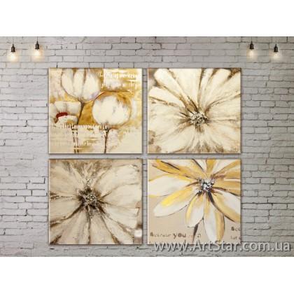 Модульные Картины, Цветы, Art. FLOW777560