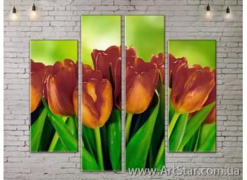 Модульные Картины, Цветы, Art. FLOW777570