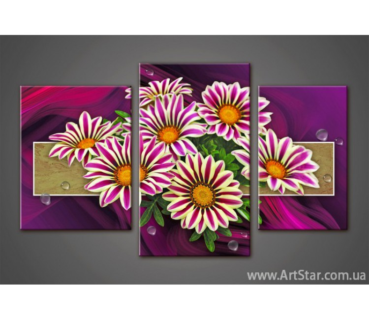 Модульная картина Цветы Герберы