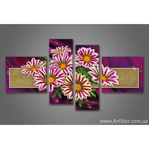 Модульная картина Цветы Герберы (4)