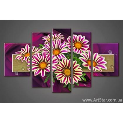 Модульная картина Цветы Герберы (5)