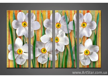 Модульная картина Цветы (4)