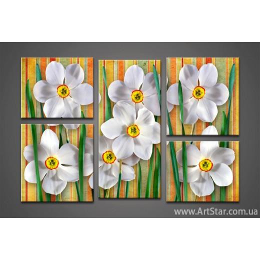 Модульная картина Цветы (5)