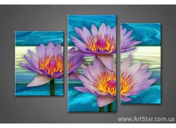 Модульная картина Цветы Лилии 3