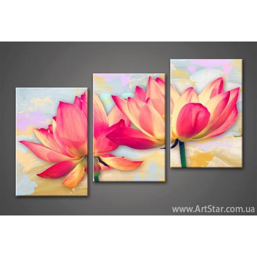 Модульная картина Цветы Лилии 2