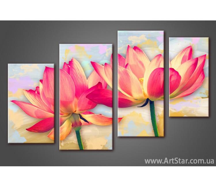 Модульная картина Цветы Лилии (4)