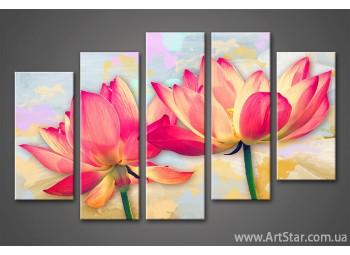 Модульная картина Цветы Лилии (5)