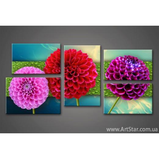 Модульная картина Цветы Удачи 777 (5)