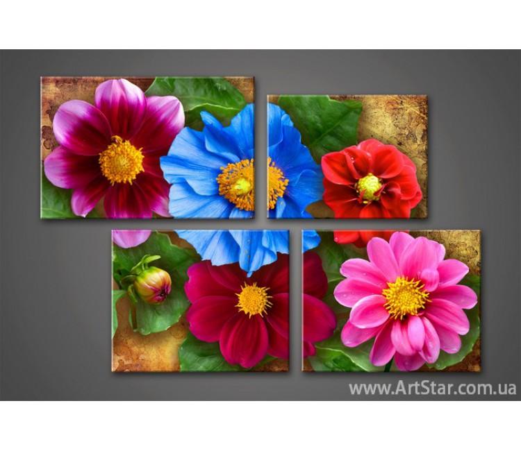 Модульная картина Цветы (4) 2