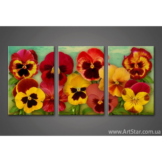 Модульная картина Цветы 2