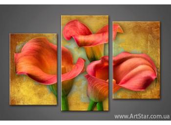 Модульная картина Цветы Каллы