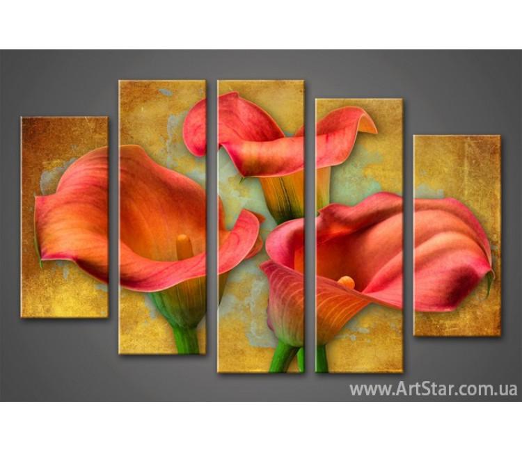 Модульная картина Цветы Каллы (5)