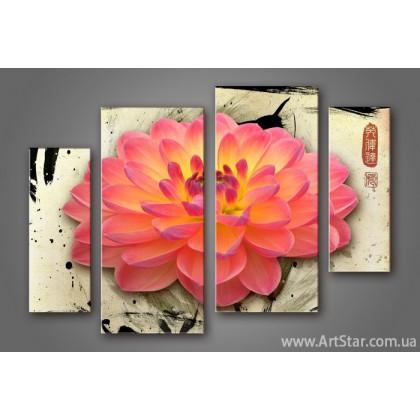 Модульная картина Цветы Лилии (4) 4