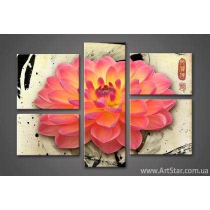 Модульная картина Цветы Лилии (5) 2