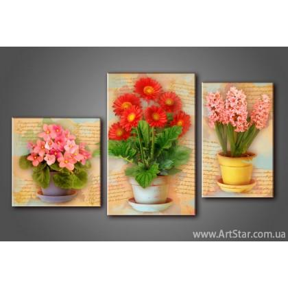 Модульная картина Цветы 3