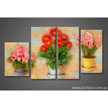 Модульная картина Цветы (4) 4
