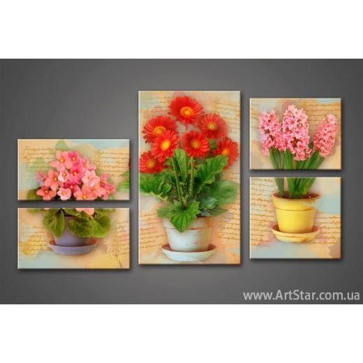 Модульная картина Цветы (5) 4