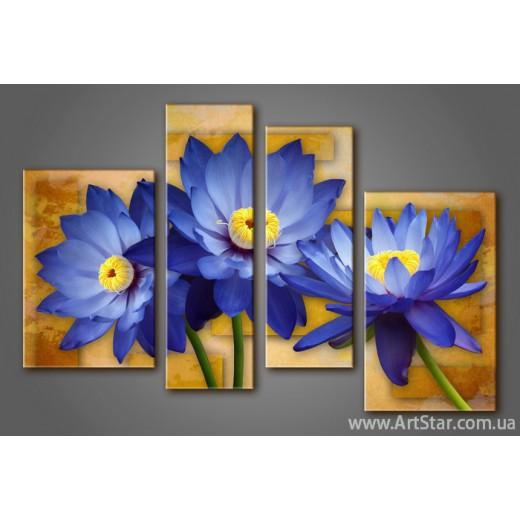 Модульная картина Цветы Лилии (4) 5
