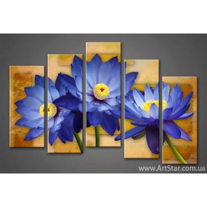 Модульная картина Цветы Лилии (5) 3