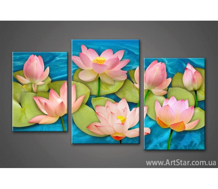 Модульная картина Цветы Кувшинки