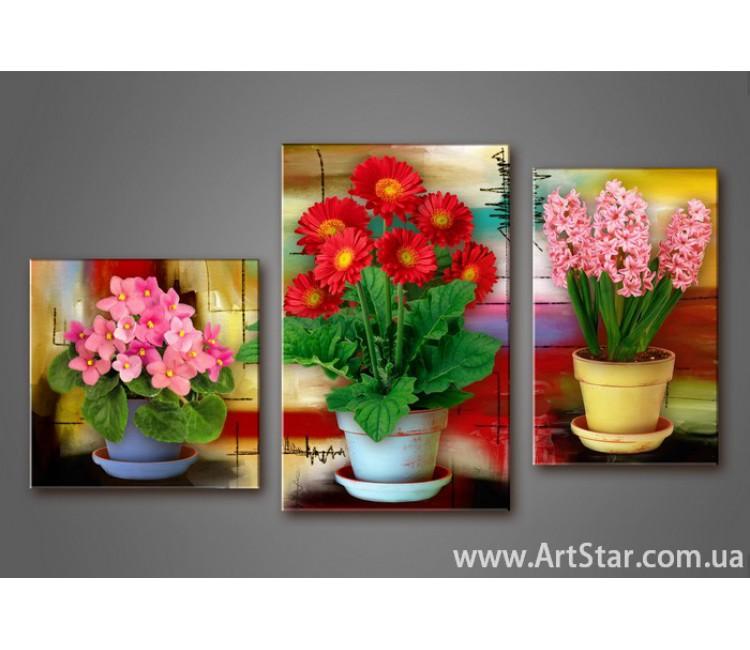 Модульная картина Цветы 5