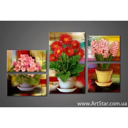 Модульная картина Цветы (5) 6