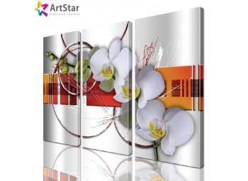 Модульная картина - Цветы, Art. favt_0003