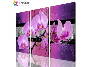 Модульная картина - Цветы, Art. favt_0027