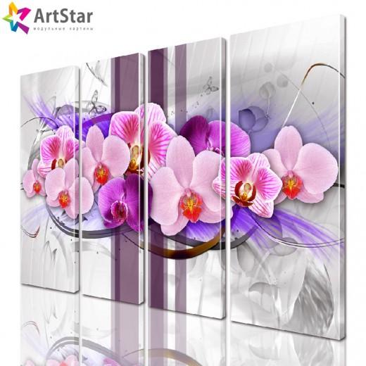 Модульные картины | Цветы, Art. favt_0034