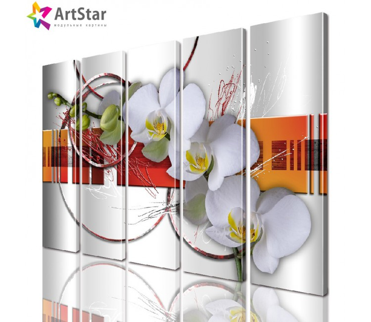 Модульная картина - Цветы, Art. favt_0018