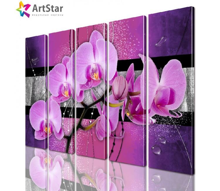 Модульная картина - Цветы, Art. favt_0043