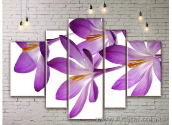 Модульные Картины Цветы, Art. FLWM0005