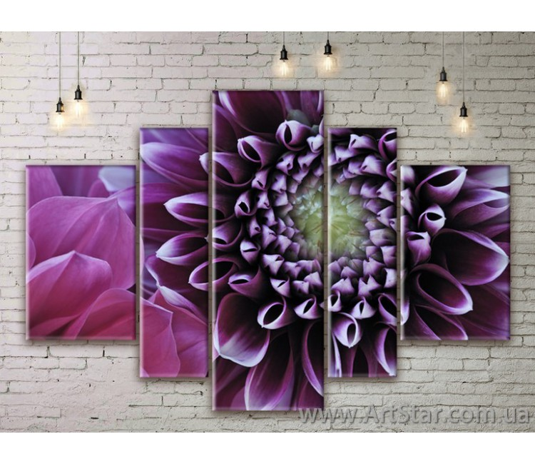 Модульные Картины Цветы, Art. FLWM0007