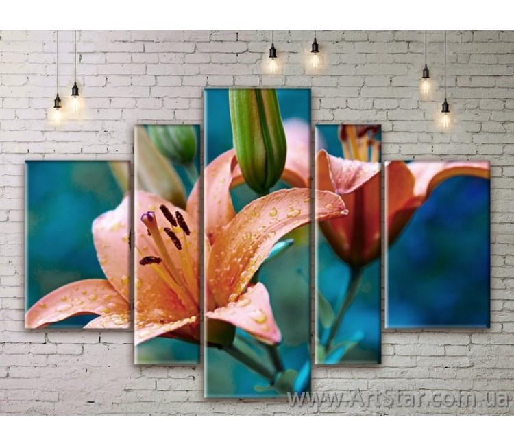 Модульные Картины Цветы, Art. FLWM0013