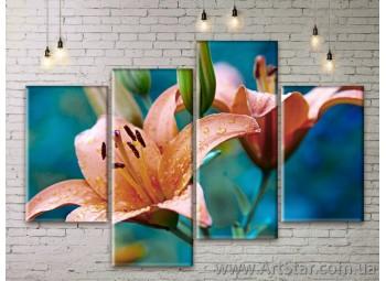 Модульные Картины Цветы, Art. FLWM0017