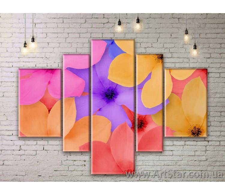 Модульные Картины Цветы, Art. FLWM0019