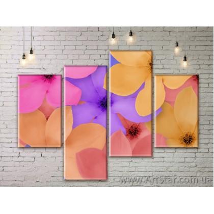 Модульные Картины Цветы, Art. FLWM0023