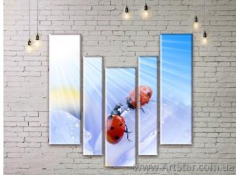 Модульные Картины Цветы, Art. FLWM0033