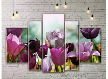Модульные Картины Цветы, Art. FLWM0037