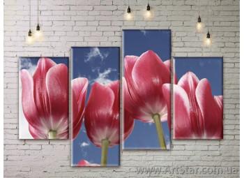 Модульные Картины Цветы, Art. FLWM0047