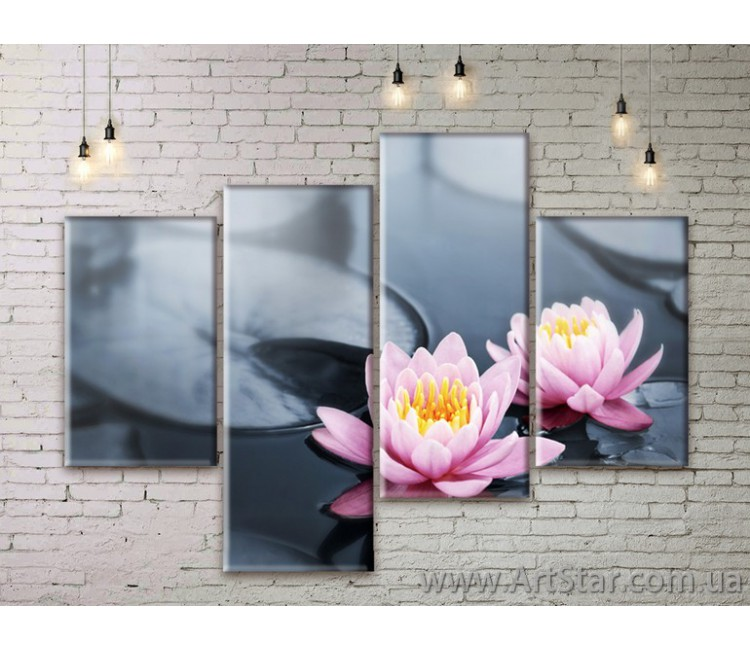 Модульные Картины Цветы, Art. FLWM0053