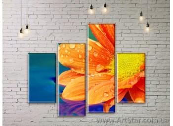 Модульные Картины Цветы, Art. FLWM0057